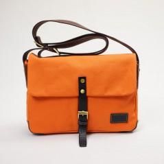 輕量帆布郵差包(陽光橘)