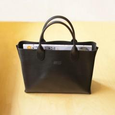進口植鞣手提包(消光黑)