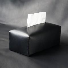 手縫義大利馬鞍皮面紙套(靜謐黑)